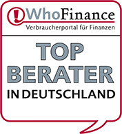 Top Finanzberatung in Deutschland WhoFinance Siegel Top Finanzberater 04.2013