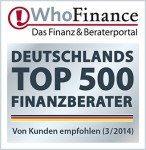 Whofinance Deutschlands Top 500 beste finanzberater 04/2014