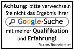do-it-yourself Finanzberatung durch Google