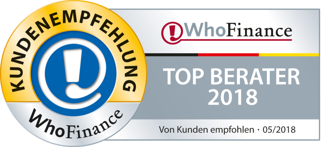 Beste Finanzberater Deutschlands - Whofinance Siegel Top Finanzberater 05.2018