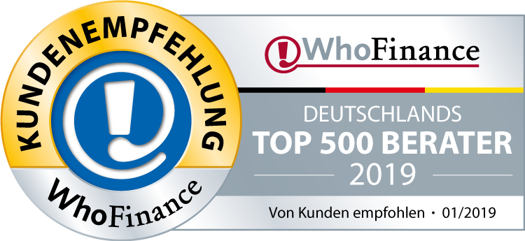 Beste Finanzberater Deutschlands - Die Top 500 Berater Deutschlands - WhoFinance 01/2019